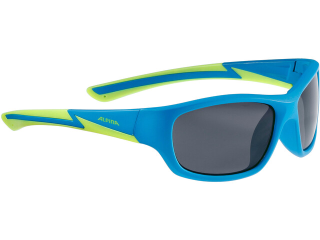 Alpina Flexxy Youth Glasses Kids blue matt-lime